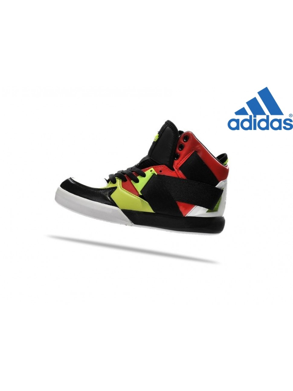Homme Chaussures Soldes Adidas C-10 High Noir Blanche Rouge Chaux