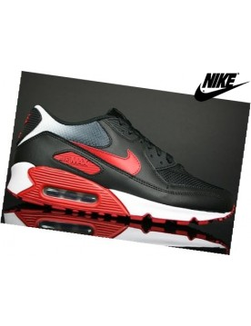 Nike Air Max 90 Baskets Mode Homme Noir/Rouge/Blanche