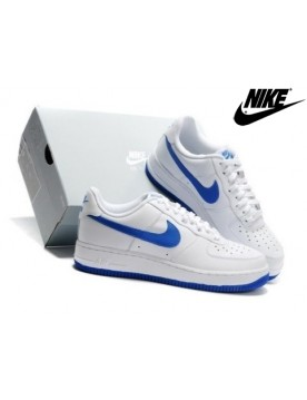 Unisexe Soldes Nike Air Force 1 Low Blanche Royal Bleu