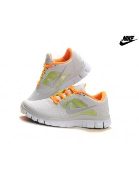 Nike Free Run 3 Chaussures De Running Femme Gris Orange