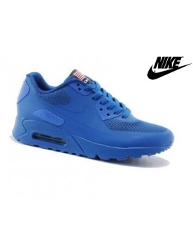 Nike Air Max 90 Hyperfuse Qs Independence Day Baskets Mode Homme Bleu Royal