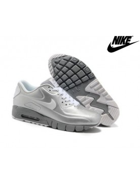 Chaussures De Running Nike Air Max 90 Current Vt Lsr Metallic Argent Blanche Unisexe