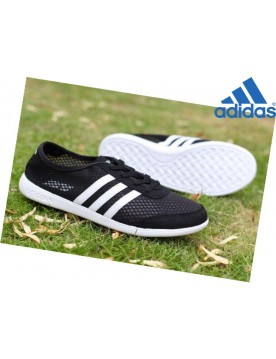 Femme Promotion Chaussures Adidas Tennis Noir Blanche