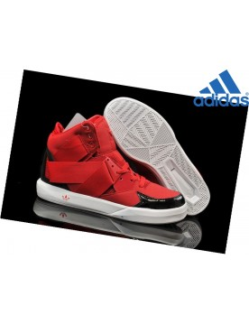 Homme Chaussures Soldes Adidas C-10 High Rouge Noir Blanche