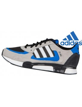 Homme Baskets Mode Adidas Originals ZX 850 Gris Noir Bleu