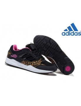 Femme Collection Classique Adidas Originals Tech Super W Noir Rose Jaune Leopard