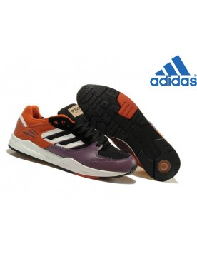Homme Modèle Phare Adidas Originals Tech Super Noir Pourpre Orange Blanche