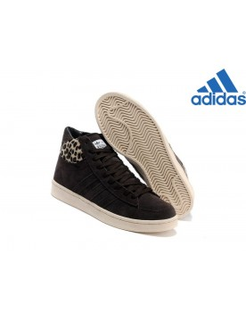 Homme Chaussures Vente Privée Adidas Originals High Zipper Coffee Leopard Beige