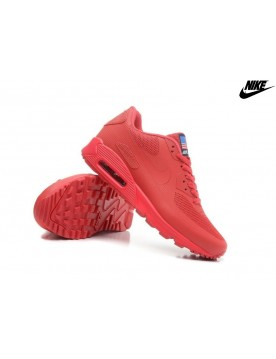 Chaussures De Running Nike Air Max 90 Homme/Femme Hyperfuse Premium Em Tous Rouge