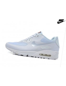 Nike Air Max 90 Hyperfuse Qs Baskets Mode Homme Blanche/Argent
