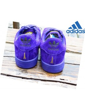 Unisexe Chaussures En Promotion Adidas Superstar 45 Anniversary City Edition Cuir Tokyo Pourpre
