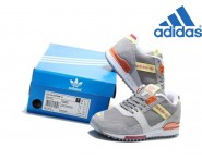 Vente Privée Adidas Femme Chaussures Adidas Originals ZX 700 Gris Jaune Orange